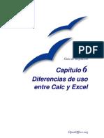 Diferencias Entre Excel y Calc