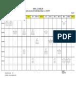 Orarul Sesiunii Intermediare de Primavara 2014-2015, Anul II