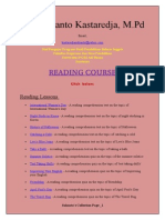 Reading Course- Suhanto Kastaredja