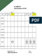 Orarul Sesiunii Intermediare de Primavara 2014-2015, Anul IV Si V