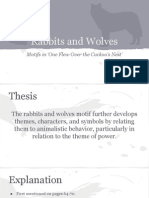 rabbits and wolves motifs