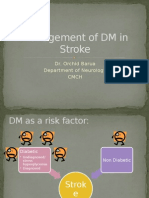 Management of DM in Stroke