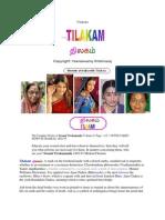 Thilakam बिन्दु-- பொட்டு; DOT on forehead
