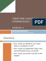 Mod 4_Credit Risk Analysis and Interpretation
