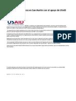 Disminuye La Pobreza en San Martín Con El Apoyo de USAID