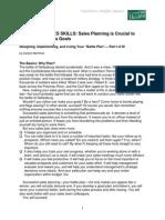 Essential Sales Skills-Sales Planning Part I, II, III-Tracker