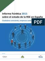 Informe Forética 2015 sobre el estado de la RSE en España