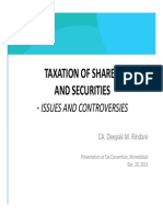 Taxation of Shares Securities Deepak M Rindani