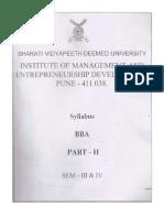 BBA III & IV Sem Syllabus
