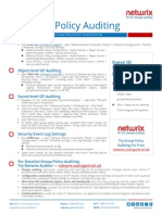 Group Policy Auditing Quick Reference Guide