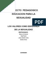 proyecto de educacion sexual