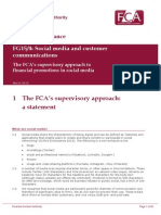 FCA Guidance on Social Media Usage March 2015