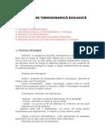 Elemente de Termodinamică Biologică
