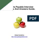 Accounts Payable Job Interview Preparation Guide