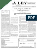 27 12 2011 La Franquicia Inoponible Causa y Consecuencias