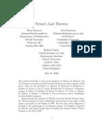 Darmon Diamond Taylor Fermats Last Theorem
