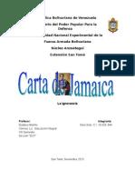 Carta de Jamaica, Analisis Gina Soto