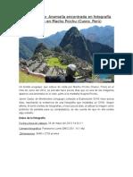 Caso Recibido Machu Piccchu Octubre 2014.