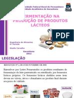 Fermentação na produção de produtos lácteos