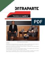 08-03-2015 Contraparte - Ajusta RMV Su Gabinete; Jorge Cruz Llega a La SGG y Rivero Trewartha a Finanzas