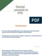 Dental Materials in FPD