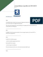 Códigos de Fallas de Problemas Específicos de PEUGEOT
