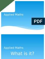 applied maths option