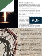 Oraciones de Cuaresma