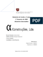 Relatorio Intermédio Alfa Construções, Lda
