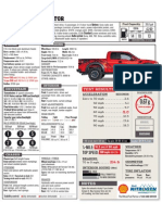 SVT Raptor Specs Sheet