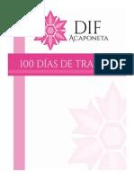 Informe 100 Días Actividades DIF
