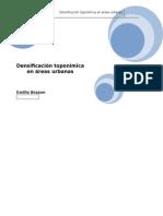 Densificación Toponímica en Áreas Urbanas