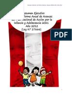 Resumen Ejecutivo 2012 PNAIA2021