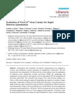 Evaluation of Virus Counter for Rapid Filovirus Quantification
