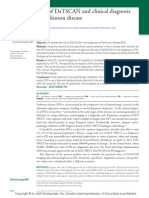 Role of DaTSCAN and clinical diagnosis in Parkinson disease