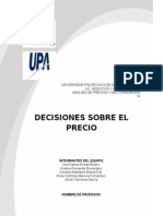 Decisiones Sobre El Precio Resumen Completo