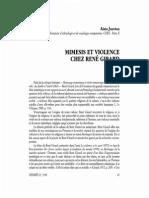 MIMESIs Et Violence