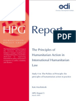 The Principles of Humanitarian Action in IHL
