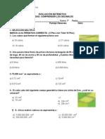 Evaluación Matemática Unidad
