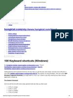 100 Keyboard Shortcuts (Windows)