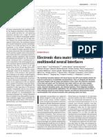 Electronic dura mater for long-term multimodal neural interfaces
