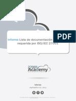 Checklist of ISO 27001 Mandatory Documentation ES