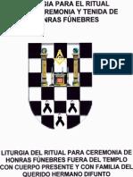 Liturgia Del Ritual Para Cermonia de Honras Fúnebres en El Templo Con Cuerpo Presente y Con Familia Del Querido Hermano Difunto (1)