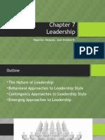 Chapter 7 - Leadership