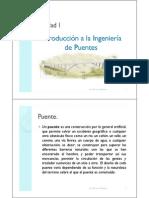 Unidad I. Ingeniería de Puentes