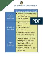 movement around school pbl