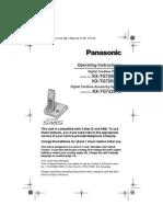Panasonic Kxtg7200 User Manual