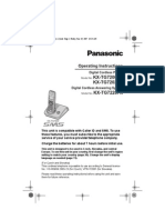 Panasonic Kxtg7200 User Manual