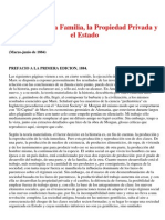 Origen de La Familia, La Propiedad Privada y El Estado - Engels Friedrich
