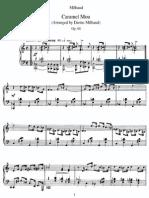 Milhaud - Caramel Mou Op.68 Per Pianoforte
